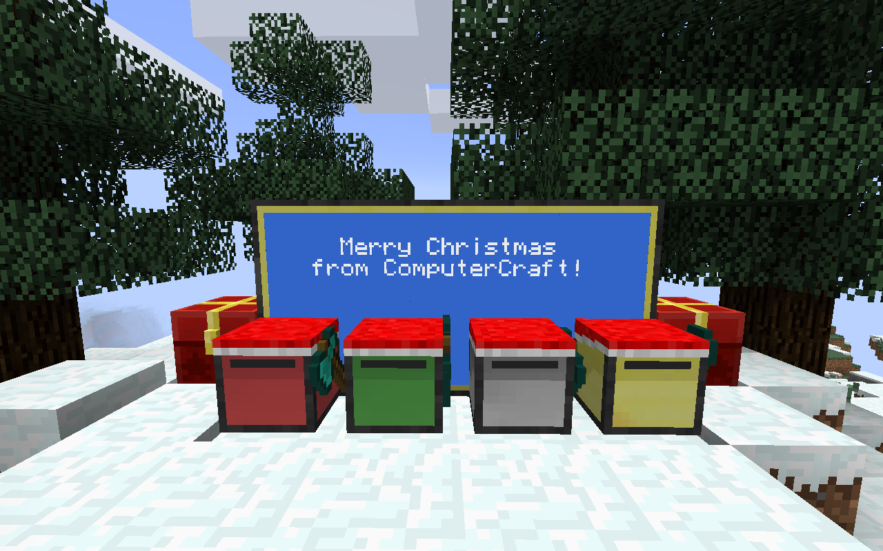 Merry Christmas from ComputerCraft